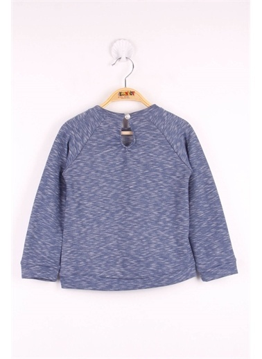 Toontoy Toontoy Kız Çocuk Çanta Nakışlı Sweatshirt Lacivert